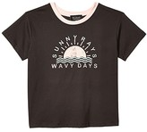 Tiny Whales Sunny Rays T-Shirt (Toddler/Little Kids/Big Kids) (Vintage Black) Girl's Clothing