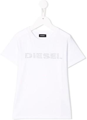 Diesel studded logo T-shirt