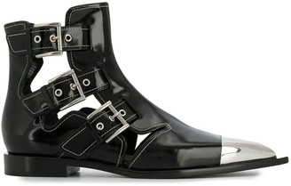 Alexander McQueen Cage ankle boots