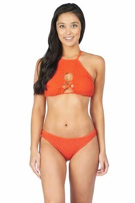Lucky Brand Women's High-Neck Bikini Bra Swimsuit Top