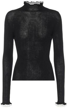 Philosophy di Lorenzo Serafini Ruffle-trimmed mockneck sweater