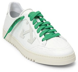 Off-White Croc-Embossed Leather Sneakers