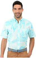 Vineyard Vines Seaweed Print Short Sleeve Classic Murray Shirt