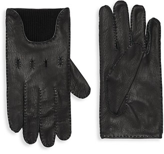 Portolano Merino Wool-Lined Leather Gloves