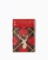 Charming charlie Reindeer Plaid Magic Wallet