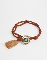 Asos Western Disc Thong Bracelet