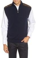 Bobby Jones Men's Cambridge Quarter Zip Merino Wool Vest