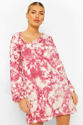 boohoo Interest Neckline Printed Sweater Dress