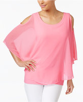 Charter Club Butterfly-Sleeve Cold-Shoulder Top, Only at Macy's