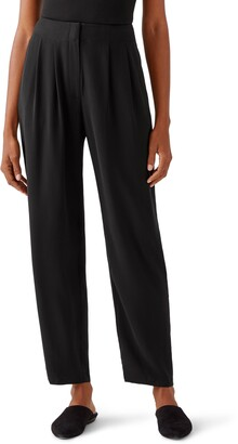Eileen Fisher Pleated Silk Pants