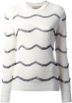 MAISON KITSUNÉ ribbed sweater - women - Cotton/Wool - XS