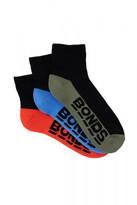 Bonds Mens Logo Quarter Crew Sport Socks 3 Pack