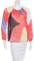 Diane von Furstenberg Parry Silk Printed Top