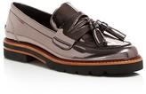 Stuart Weitzman Manila Metallic Platform Loafers