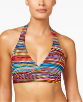 Anne Cole Pick Up Stix Striped Marilyn Halter Bikini Top