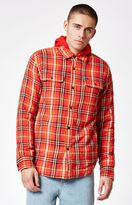 Obey Liam Plaid Sherpa Shacket