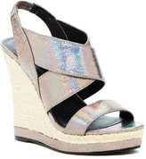 Michael Antonio Gerey Metallic Wedge Sandal