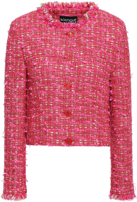 Boutique Moschino Frayed Cotton-blend Tweed Jacket