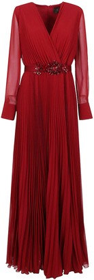 Max Mara Red Technical Fabric Dress