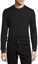 Vince Double-Layer Crewneck Sweater, Black