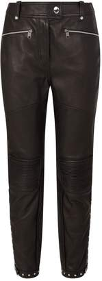 Burberry Studded Leather Trousers