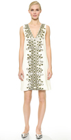 Wes Gordon Embroidered Shift Dress