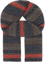 Comme Des Garcons Shirt Jacquard Wool Scarf