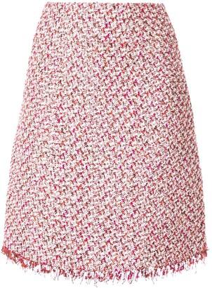Giambattista Valli Tweed Straight Midi Skirt