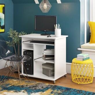 Red Barrel Studio Thomasin Computer Desk Color: White