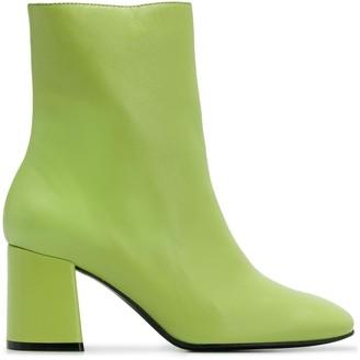 Nicole Saldaña block heel ankle boots