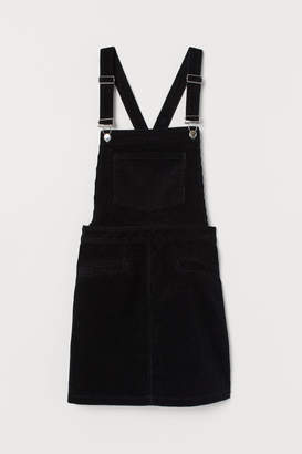 H&M Corduroy Overall Dress - Black