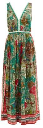 Le Sirenuse Positano Le Sirenuse, Positano - Sophia Ranthambore Tiger-print Cotton Maxi Dress - Green Print