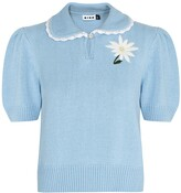 Thumbnail for your product : Rixo Annalise blue knitted jumper