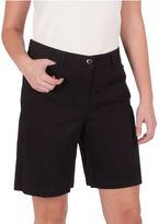 Larry Levine Women's Basic Twill Bermuda Shorts