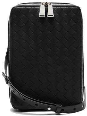Bottega Veneta Intrecciato Leather Cross-body Bag - Black