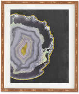 Deny Designs Emanuela Carratoni Black And Gold Agate Bamboo Framed Wall Art