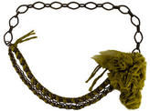 Lanvin Chain-Link Pom-Pom Waist Belt