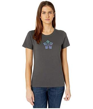 Life is Good Superflowers Crushertm Tee (Night Black) Women's T Shirt