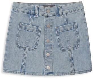 DL1961 Girl's Jenny Button-Front Denim Skirt