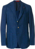 Isaia checked sports blazer