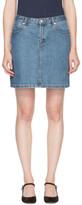 A.P.C. Indigo Denim Standard Miniskirt