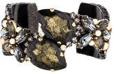 Erickson Beamon Crystal & Pearl Cuff Bracelet