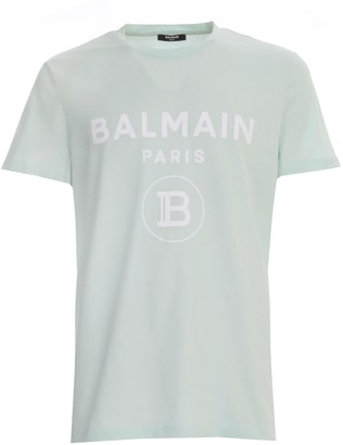 Balmain T-shirt S/s Crew Neck Printed Raw Edge