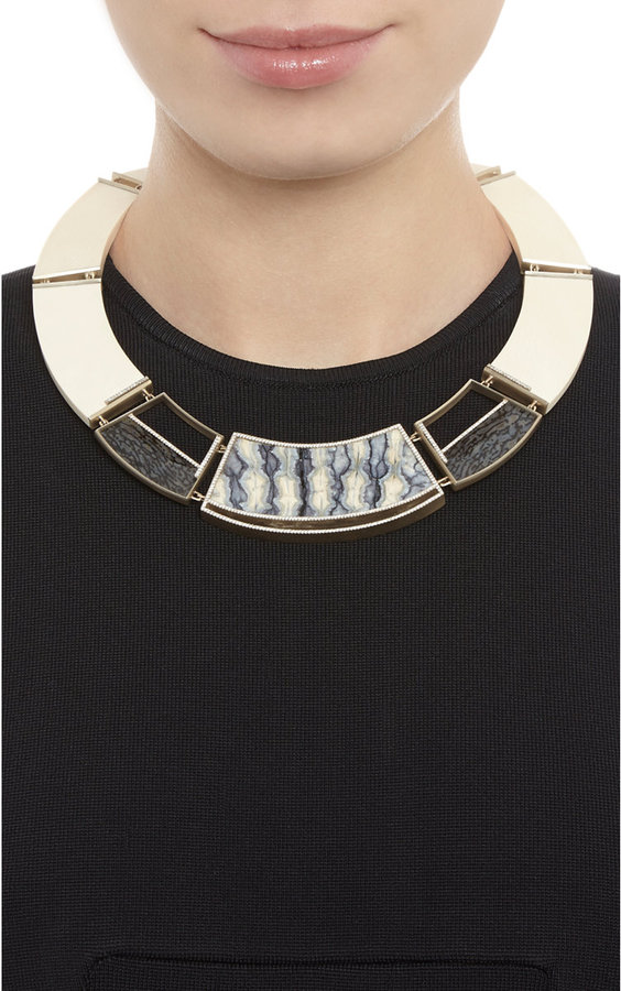 Monique Péan Woolly Mammoth & Dinosaur Bone Collar Necklace