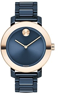 Movado Bold Evolution Ceramic Bracelet Watch, 36mm