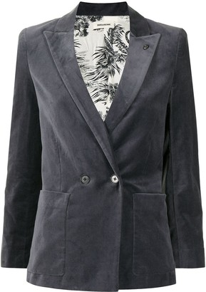 Zadig & Voltaire Single-Breasted Velour Blazer