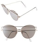 BP Women's 55Mm Round Sunglasses - Gold
