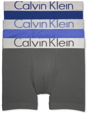 Calvin Klein Steel Men's 3-Pk. Micro Boxer Briefs