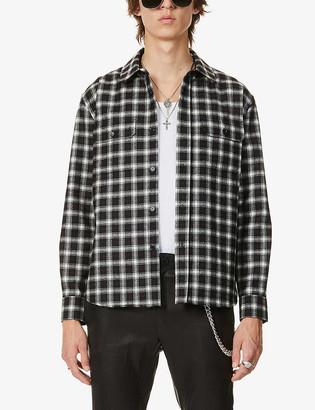 Saint Laurent Check wool-blend shirt