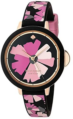 Kate Spade Park Row Flower Silicone Watch - KSW1582 (Pink) Watches